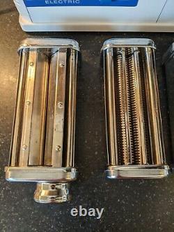 Vintage Marcato Atlas 150 Machine À Pâtes Électriques D'origine Italienne 3 Pièces Jointes