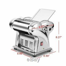 W Électrique Pasta Maker Noodle Maker Machine À Rouleau 6 Épaisseur Réglage 2 Cutters