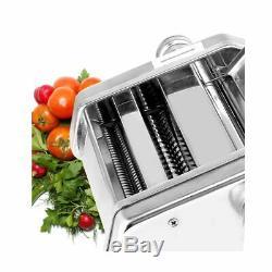 W Électrique Pasta Maker Noodle Maker Rouleau Machine 6 Épaisseur Réglage 1 Cutter
