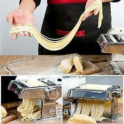 Yunko Électrique Pasta Maker Machine Avec Moteur Set Pâtes En Acier Inoxydable Rouleau